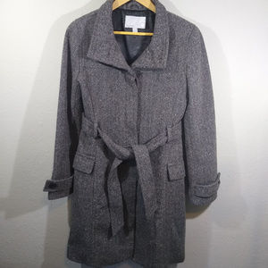 Old Navy Gray Wool Blend Pea Coat